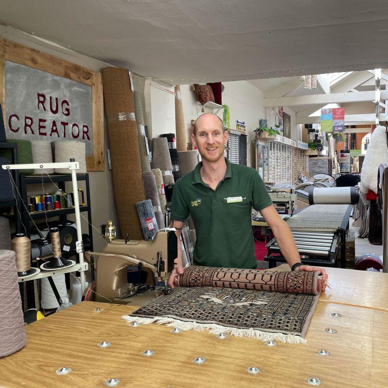 kyle in workshop
